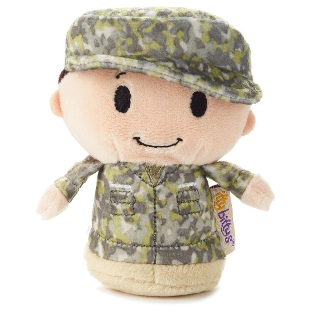 itty bittys® Green Camo Boy Stuffed Animal #boydollsincamo