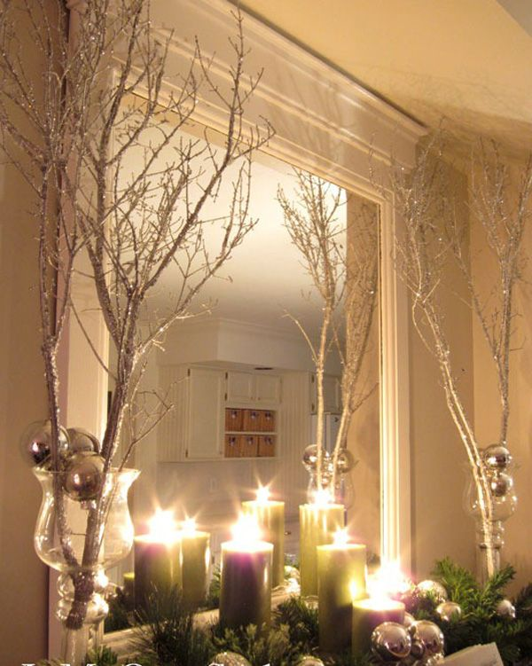 Decorating With Tree Branches Simple Christmas Decor Diy Christmas Decorations Easy Easy Christmas Diy