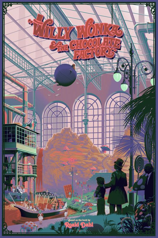 "thepostermovement: "" Willy Wonka & the Chocolate Factory by Laurent Durieux """