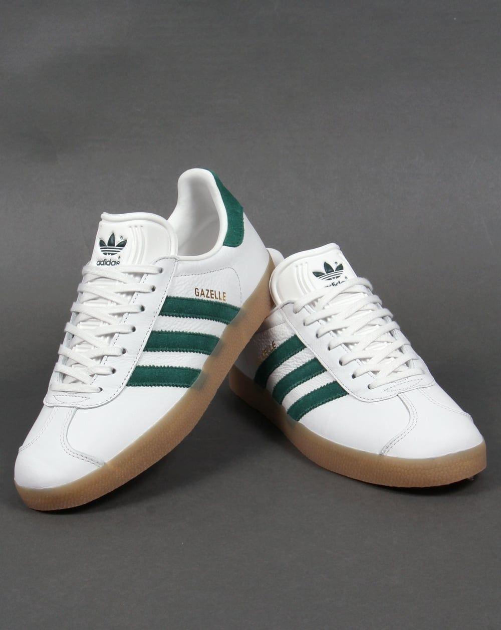 adidas gazelle white gum sole