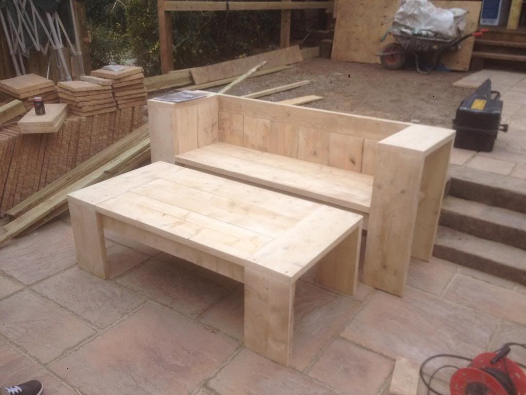 Garden Furniture Made From Scaffolding Planks scaffold board - garden bench and table | ideas for the house