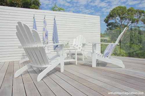 White Washed Deck With A Little Imagination Decking Stain