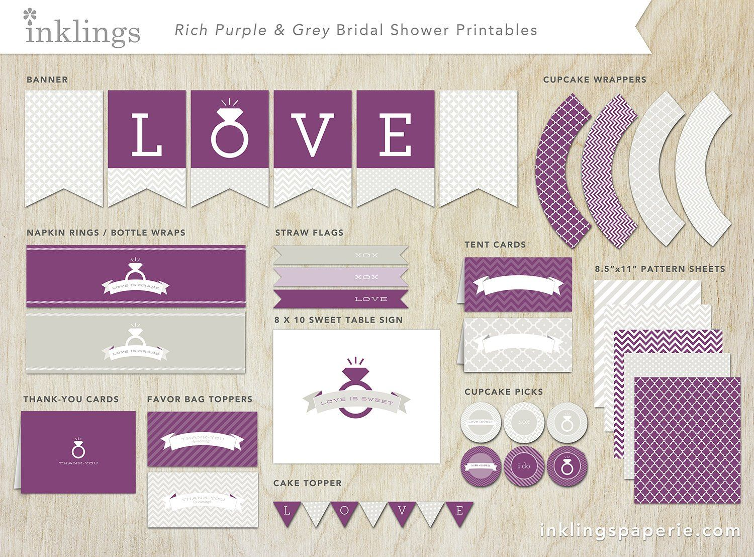 Printable decorations decoration bridal showers and bridal showers