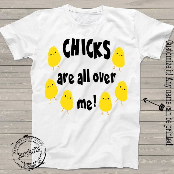 Chicks are All Over Me Boy Short-Sleeve Tee