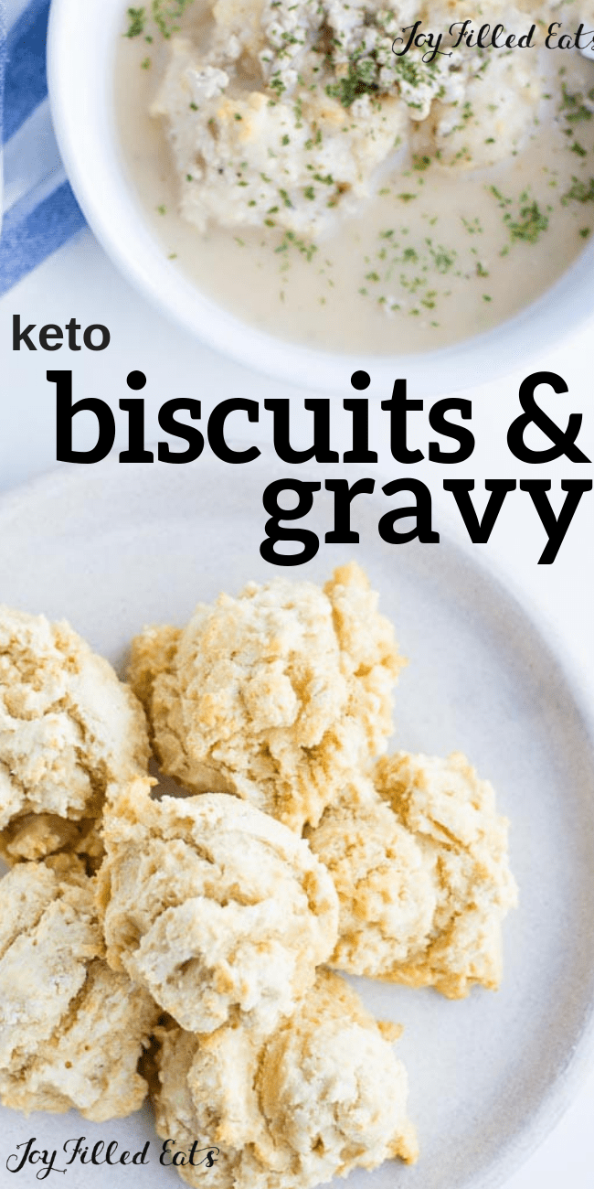 Biscuits and Gravy - Low Carb, Keto, Gluten-Free, THM S