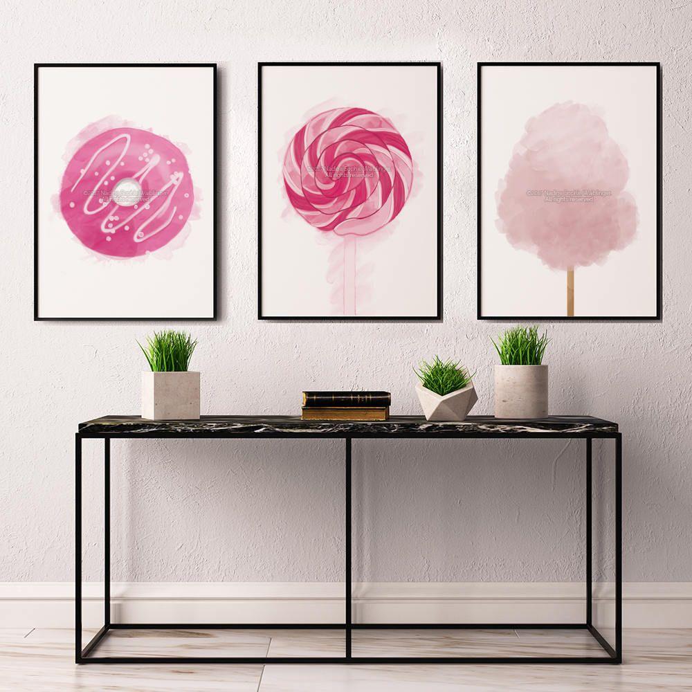 Candy print kitchen decor party decor set of prints erika