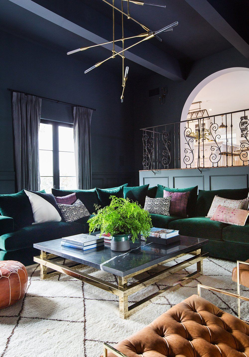 Get The Look Cool Moody Glam Purple Living Room Living
