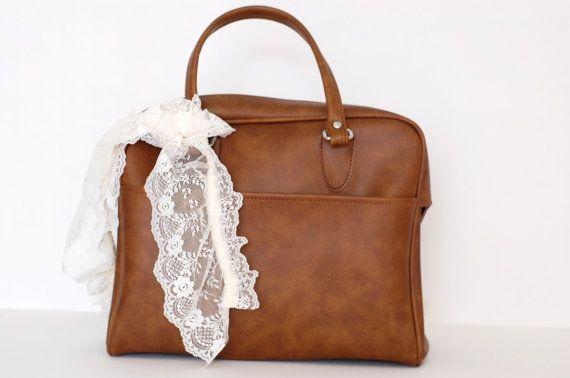 Vintage Light Brown Satchel Bag