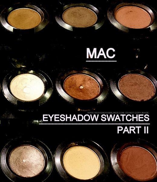 MAC Cosmetics Makeup - Eyeshadows - Swatches