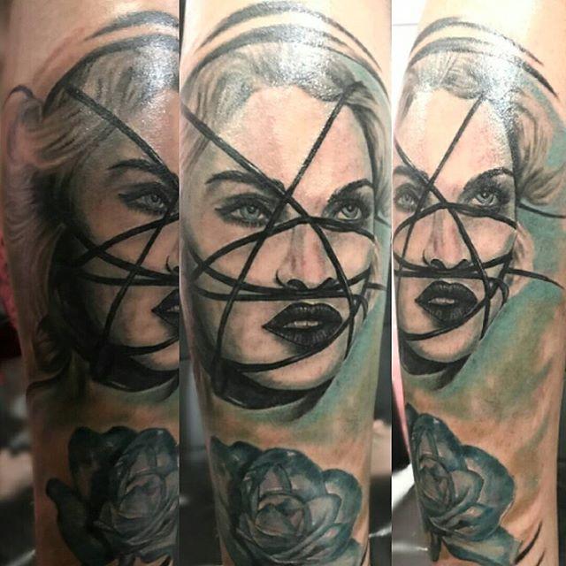 Boo S Ink Tattoo Piercing Kalibata City Square Jakarta Indonesia Fantasy Madonna Artist Indraciboo Ink Tattoo Coil Tattoo Machine Tattoos