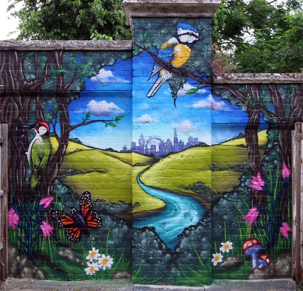 Art For The Garden: Graffiti Mural Artist