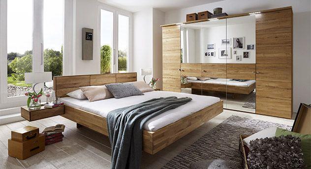 Komplett-Schlafzimmer aus massiver Wildeiche - Terrano Nadine - komplette schlafzimmer modern