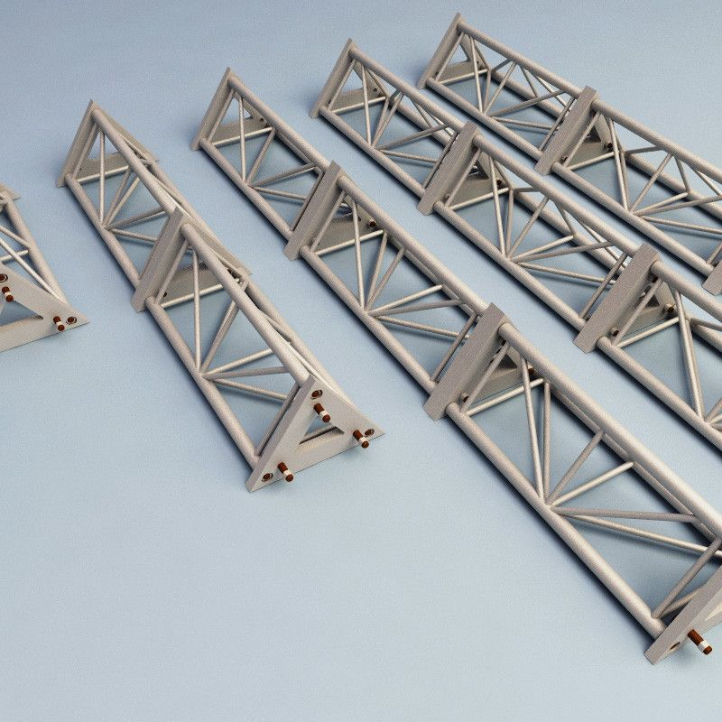 Steel Truss V2 C4d Steel Trusses Steel Structure Tent Design