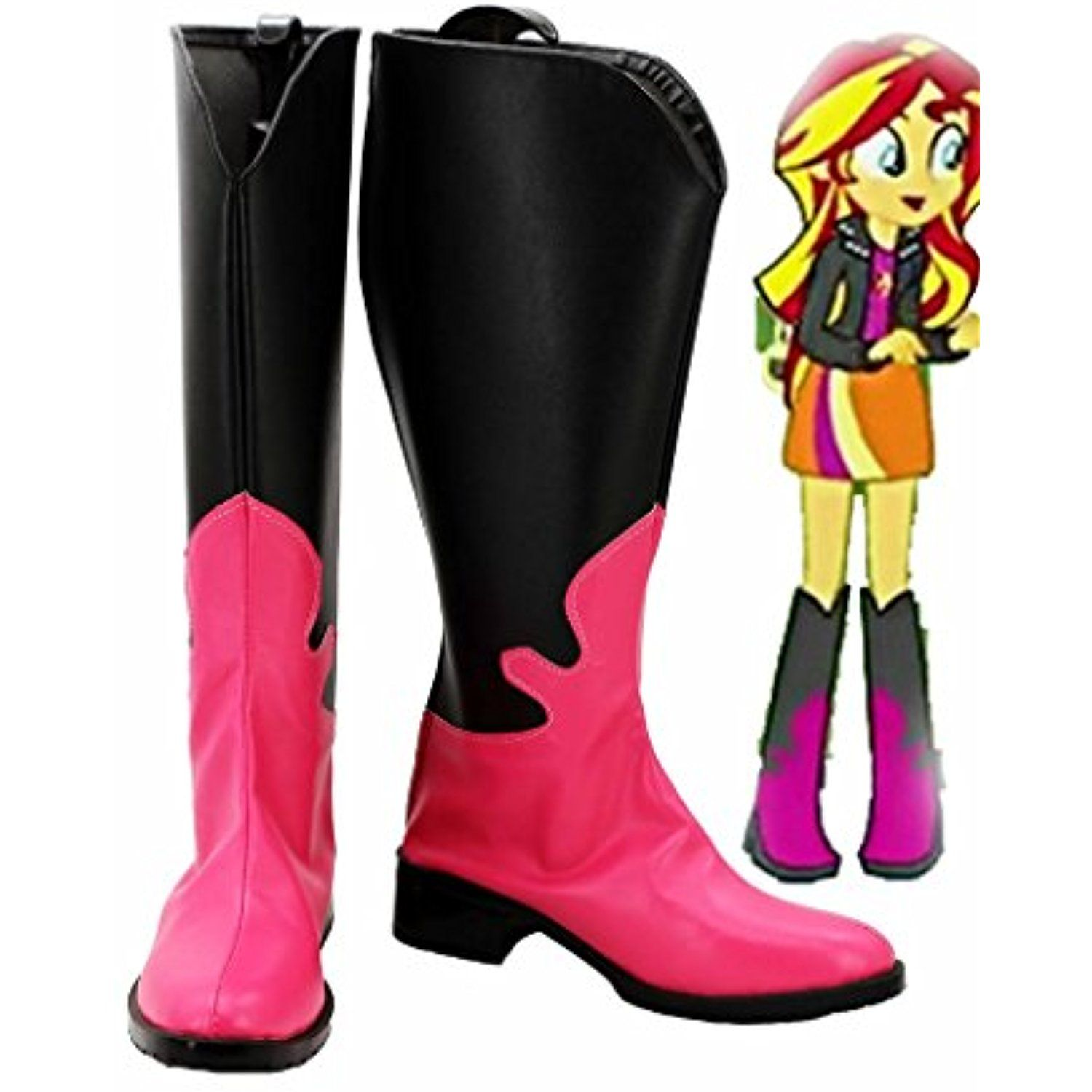 My Little Pony Equestria Girls Rainbow Rocks Sunset Shimmer Cosplay Shoes Boots Custom Made