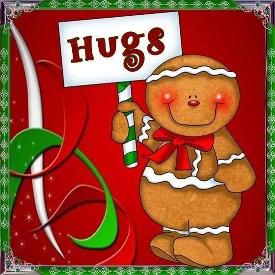 Gingerbread Man Hugs Christmas Paintings Christmas Crafts Christmas Greetings