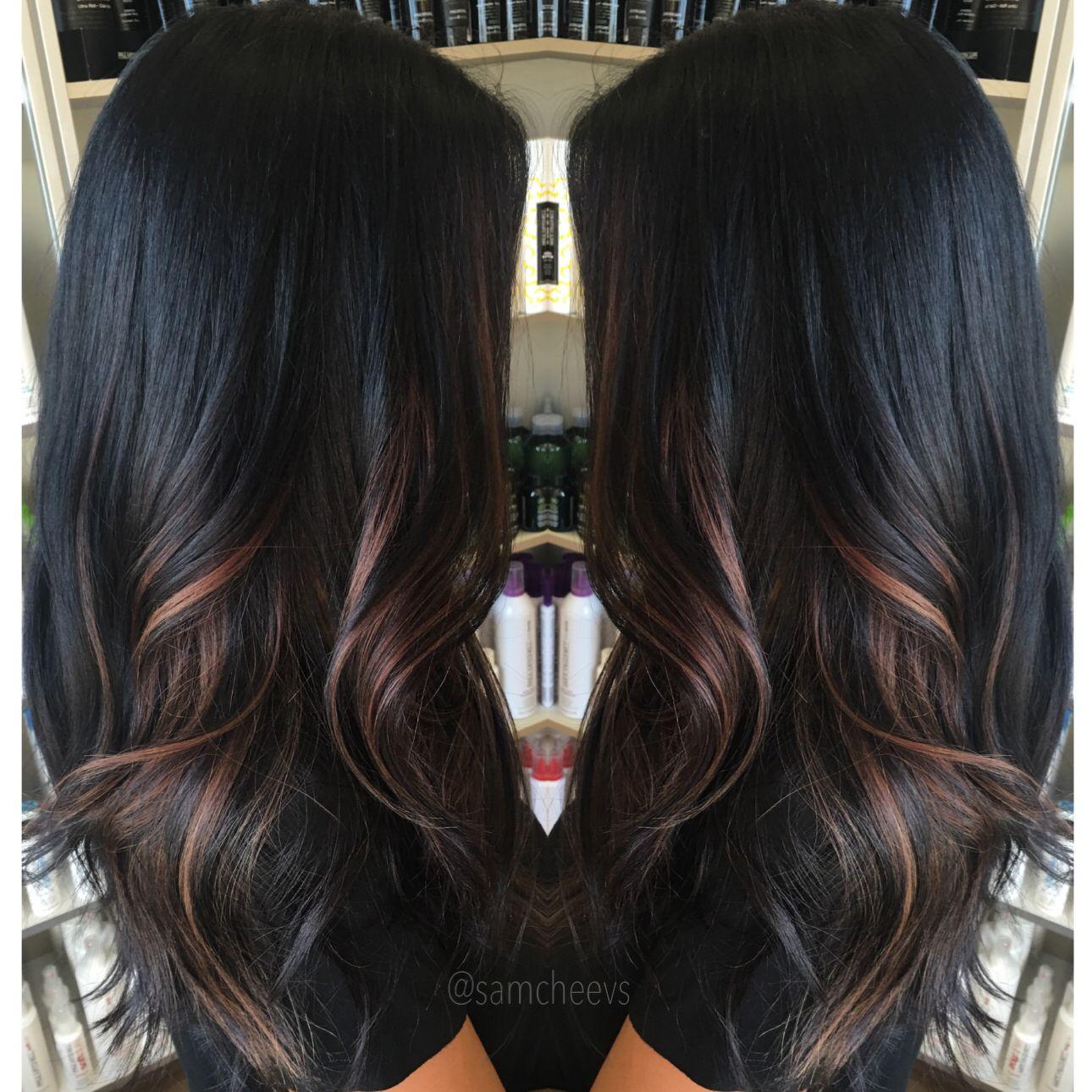 Ombre for dark hair highlights for black hair hair pinterest