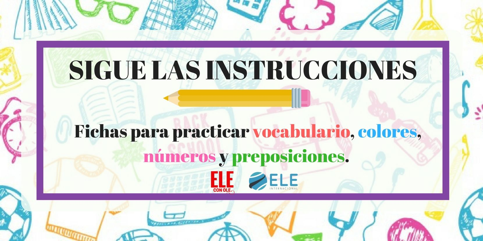 ¡Hola a todos!Hoy comparto con vosotros unas fichas muy útiles para practicar vocabulario sobre diferentes temas, las preposiciones de lugar, colores y núm