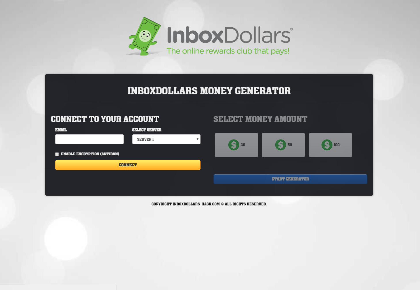 Welcome to the Inboxdollars Hack application  This website goal is