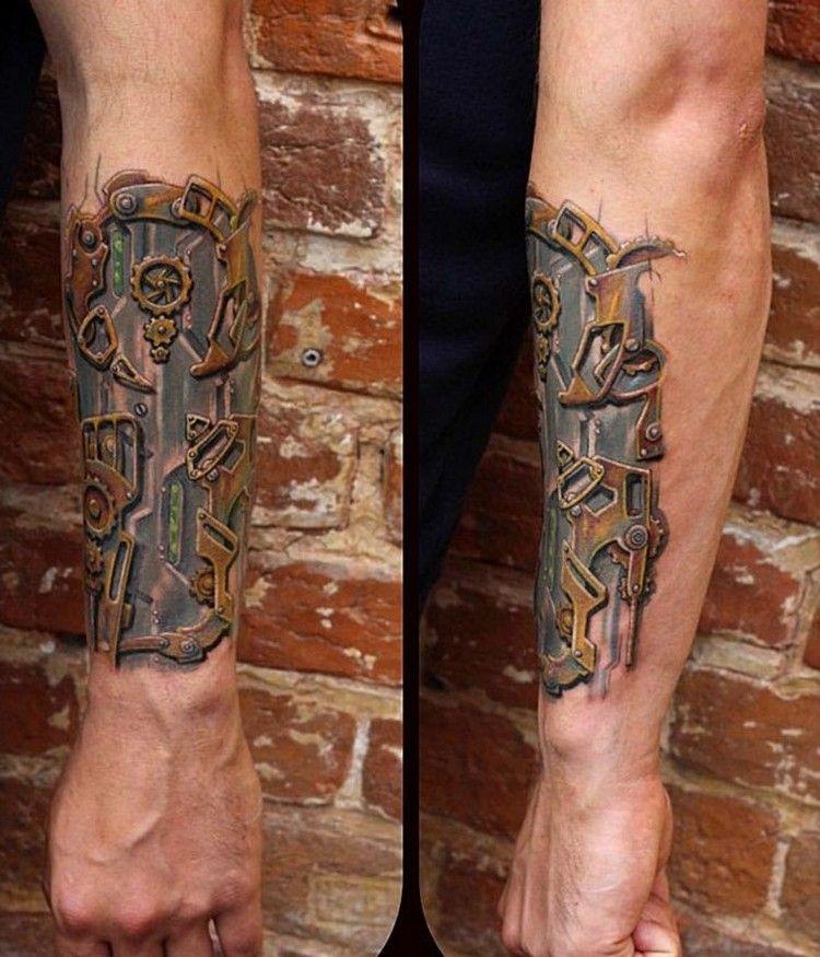 Tattoo Biomechanik Wade Volt Biomechanik Federkolben Und Muskeln