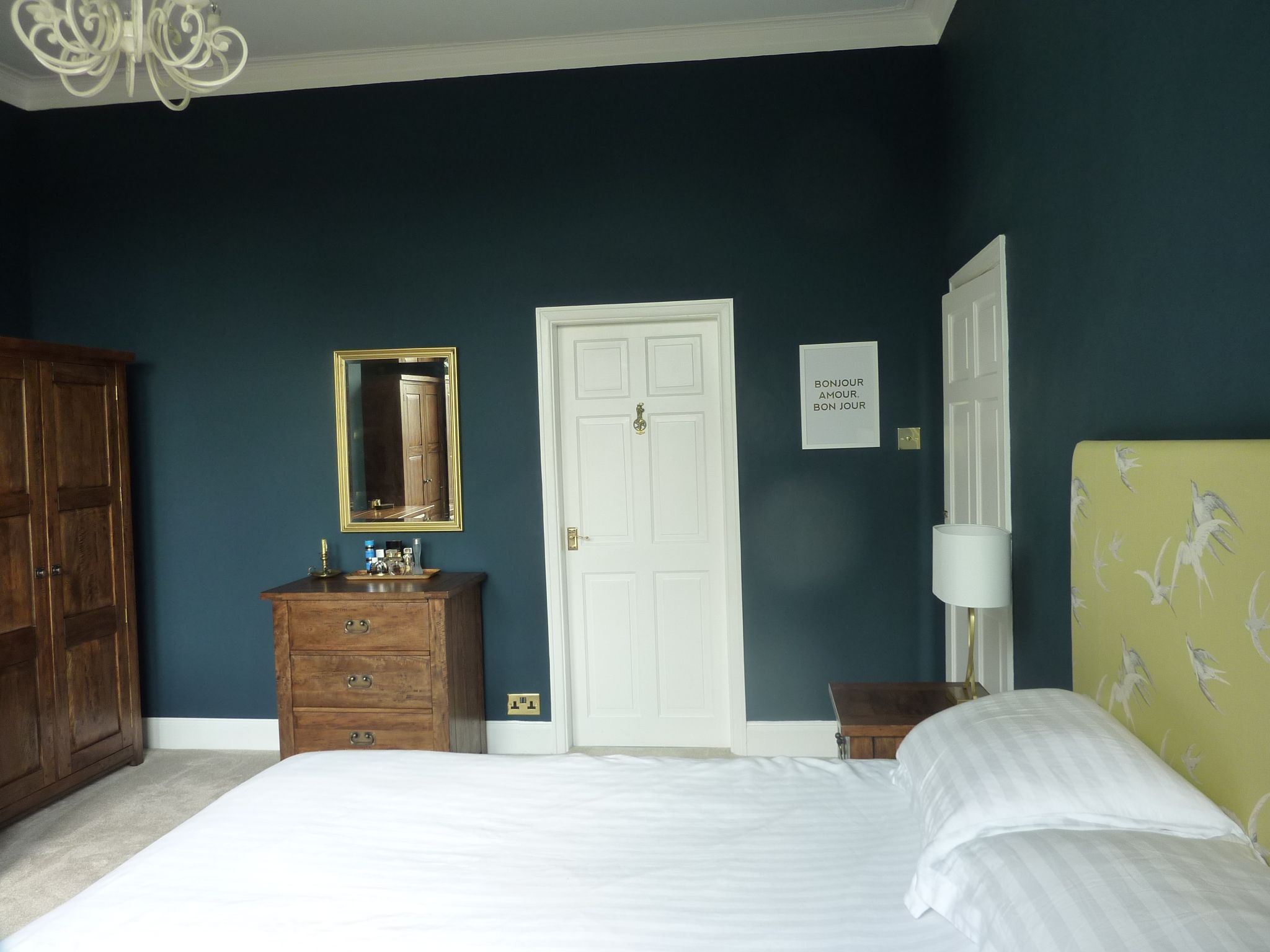 farrow and ball hague blue bedroom wall color pinterest hague blue blue bedrooms and bedrooms. Black Bedroom Furniture Sets. Home Design Ideas
