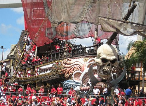 Tampa Bay Bucs Pirate Ship They Fire A Broad Side When Ever The Home Team Is In The Red Zone Tampa Bay Bucs Buccaneers Football Tampa Bay Buccaneers Football