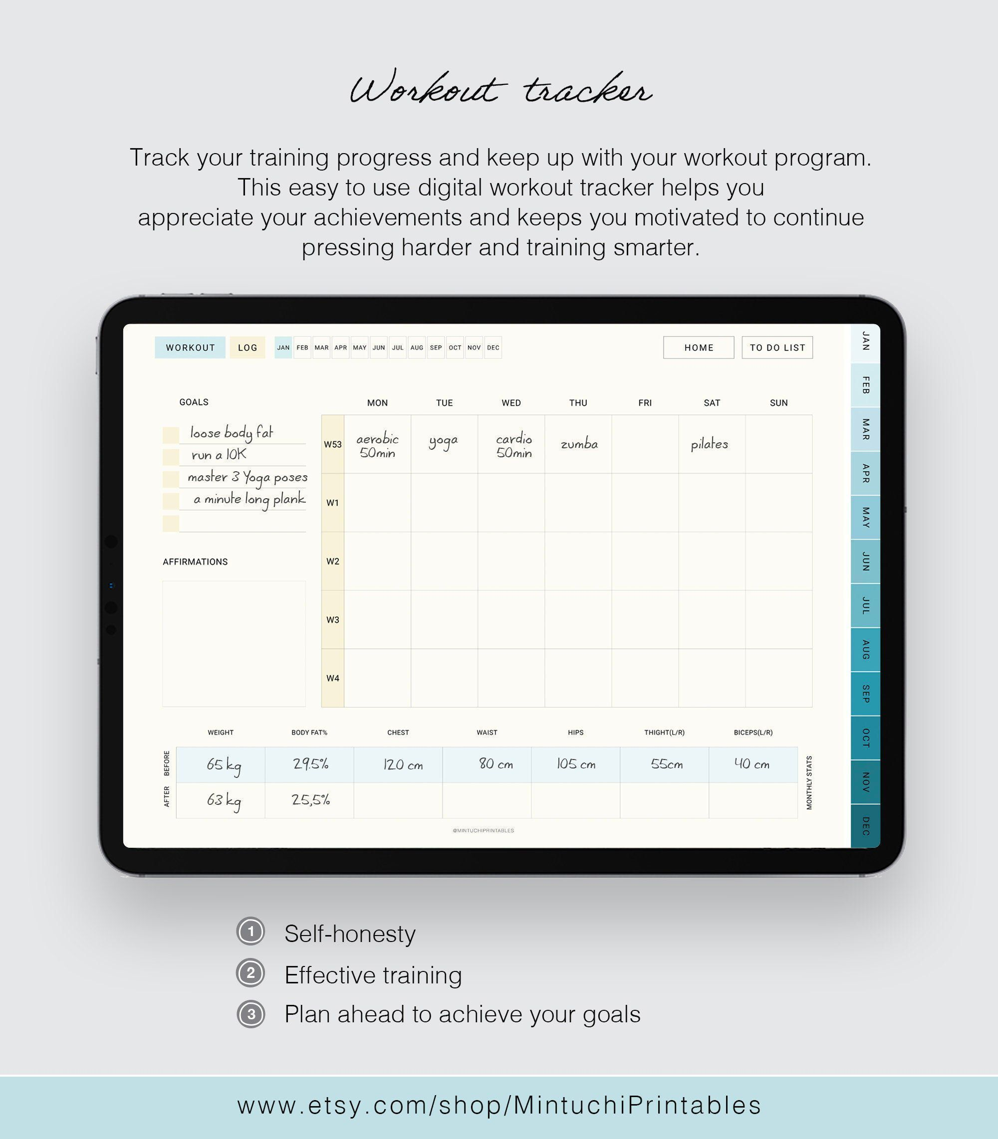 UNDATED digital planner, goodnotes planner, digital