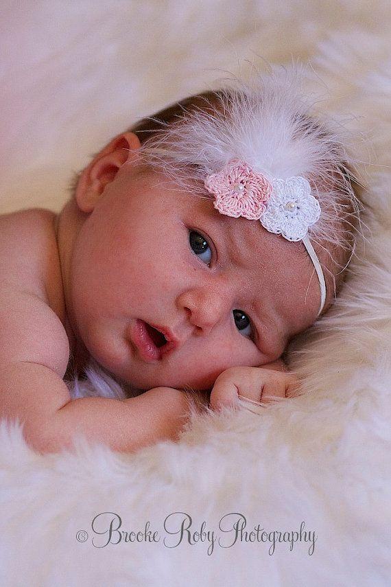 0cfd8d9693a Crochet Headband Newborn Headband Christening by StellasDesign ...