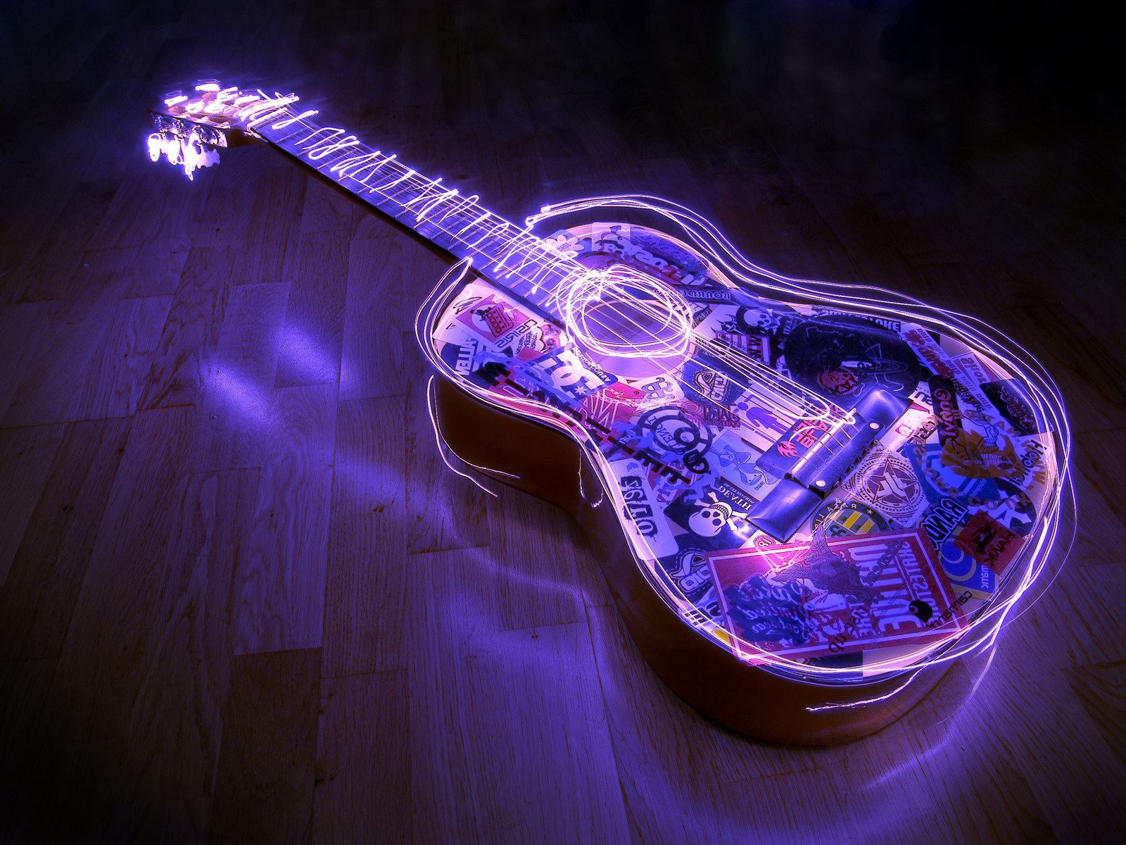 Glowing Guitar Wallpapers 10