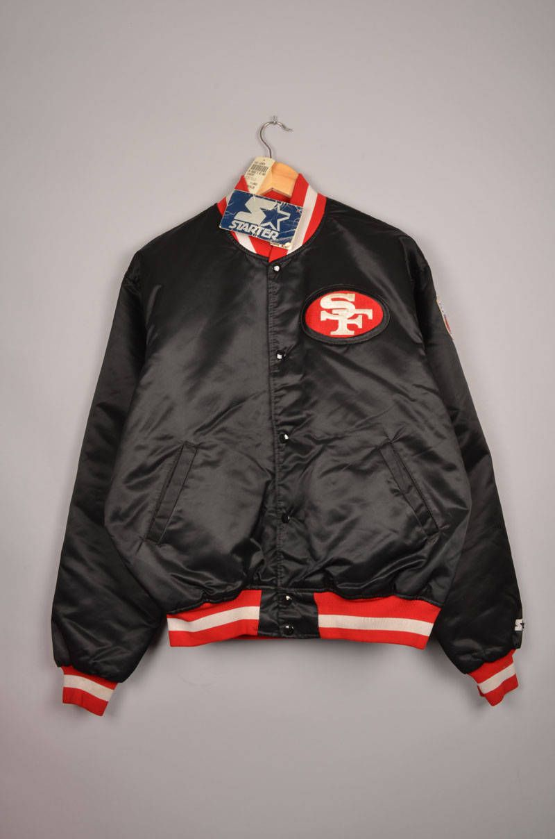 san francisco 49ers, pro line, starter bomber jacket, pro