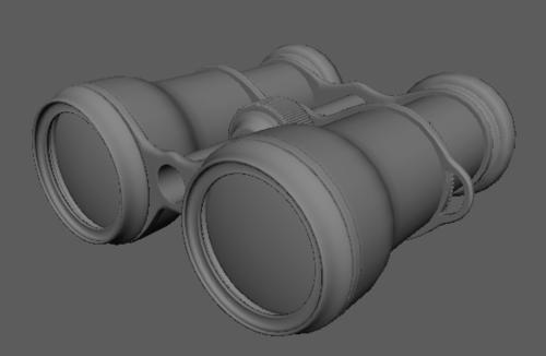Binoculars  This royalty free 3D model or texture is