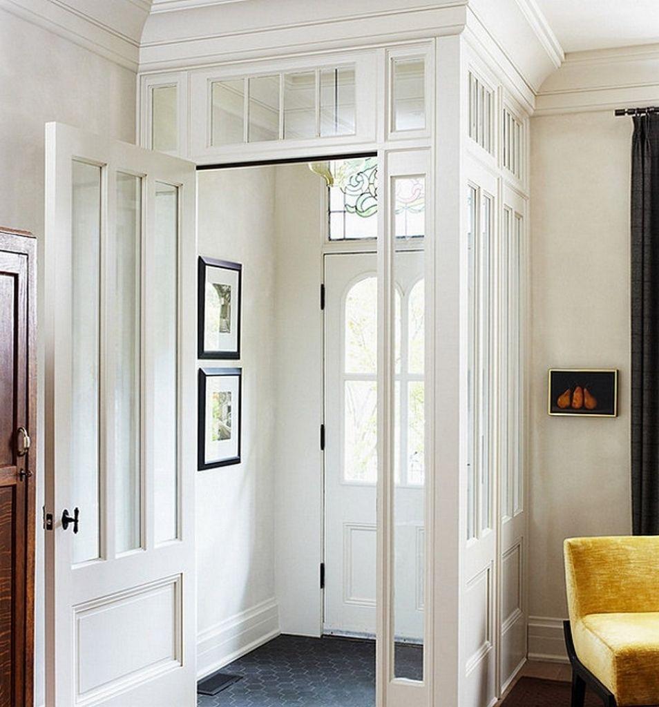 Beautiful Decorating Ideas Entryway Vestibule With Grey Hexagonal ...