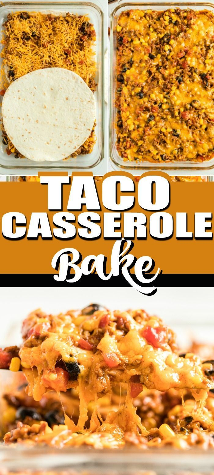 Easy Taco Casserole - Ready in about 30 minutes!