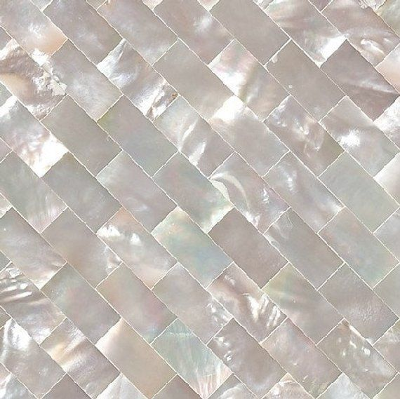 White Butterfly Shell Mosaic Brick Subway Groutless Mother Of Pearl