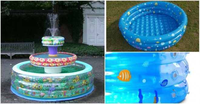 Diy Make A Water Fountain With Baby Pools Baby Pool Water