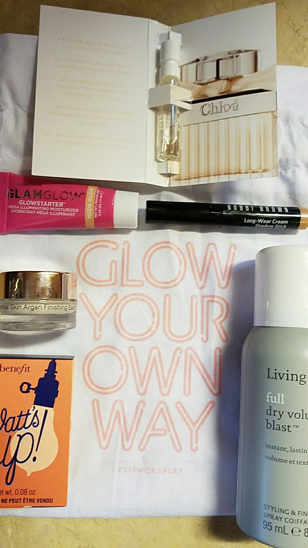 March 2017 Play! By Sephora box. It's all about the glow