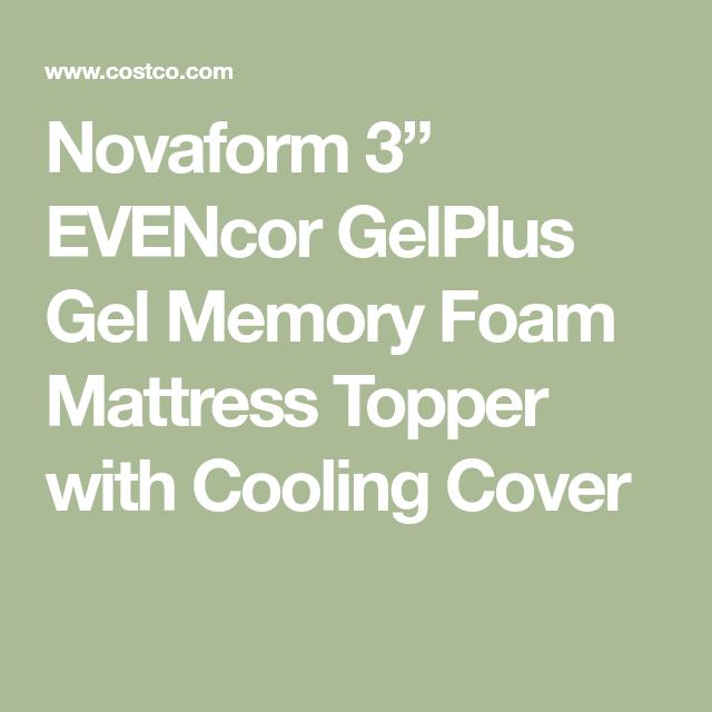 "33a29047b267a Novaform 3"" EVENcor GelPlus Gel Memory Foam Mattress Topper with Cooling  Cover"