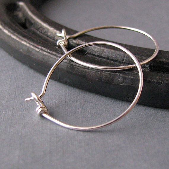 Silver Filled Sleeper Hoop Ear Wires, Handmade Earring Findings - 20 gauge
