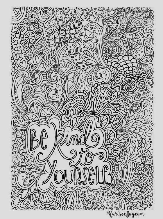 Be Kind To Yourself Coloring Page Coloring Pages Coloring Books