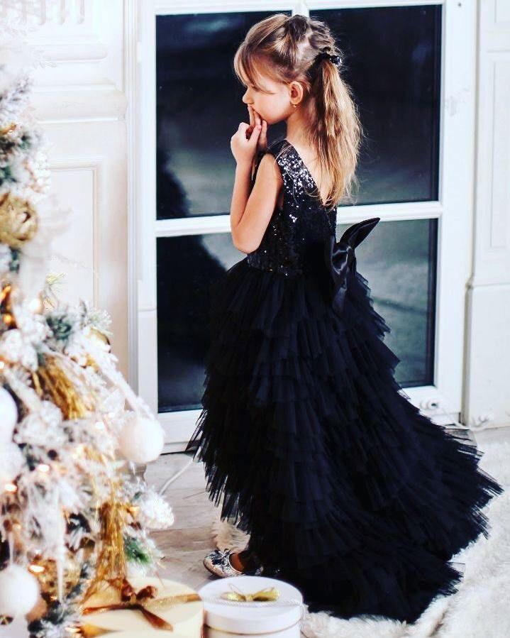 Flower Girl Dress Black Girl Lace Dress Toddler Dress Baby Dress