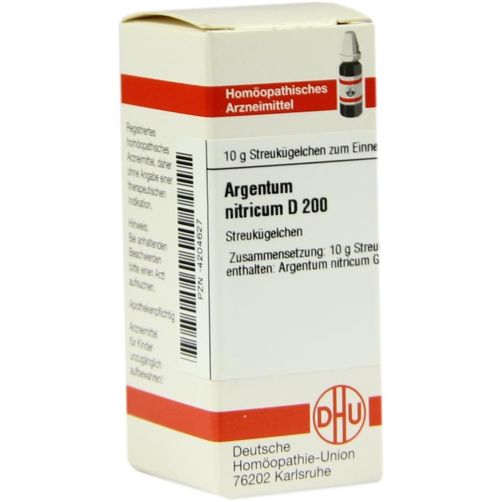 ARGENTUM NITRICUM D 200 Globuli:   Packungsinhalt: 10 g Globuli PZN: 04204627 Hersteller: DHU-Arzneimittel GmbH & Co. KG Preis: 9,10 EUR…