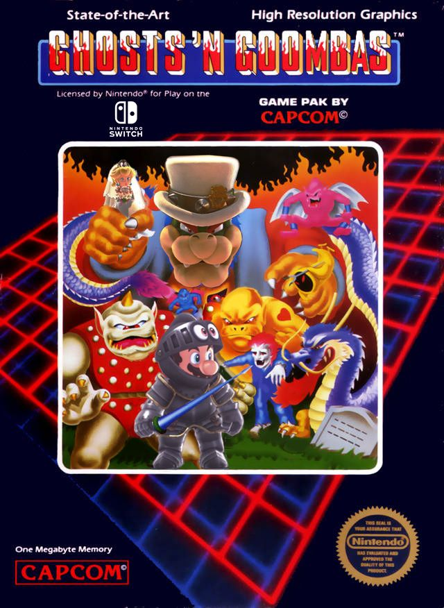 I made a Mario Ghosts 'N Goombas NES cover (for us old people) http://bit.ly/2lnzap3 #nintendo
