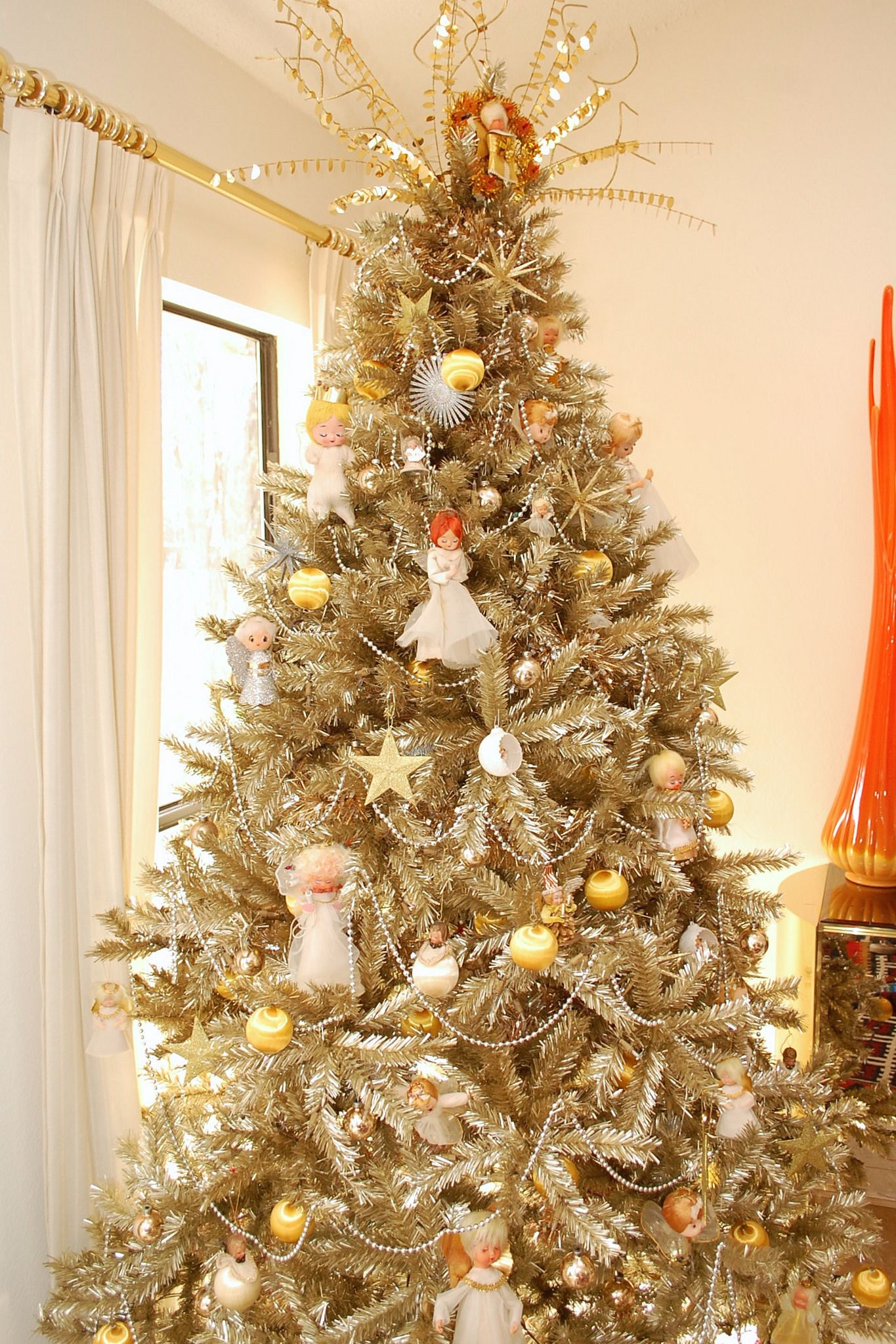 Who Says a Christmas Tree Has To Be Green? Gold