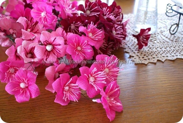 How To Make Flowers With Crepe Paper And Tissue Paper Rate Art N Epowazna Natalia Fun Paper Flowers Handmade Flowers Flowers Diy