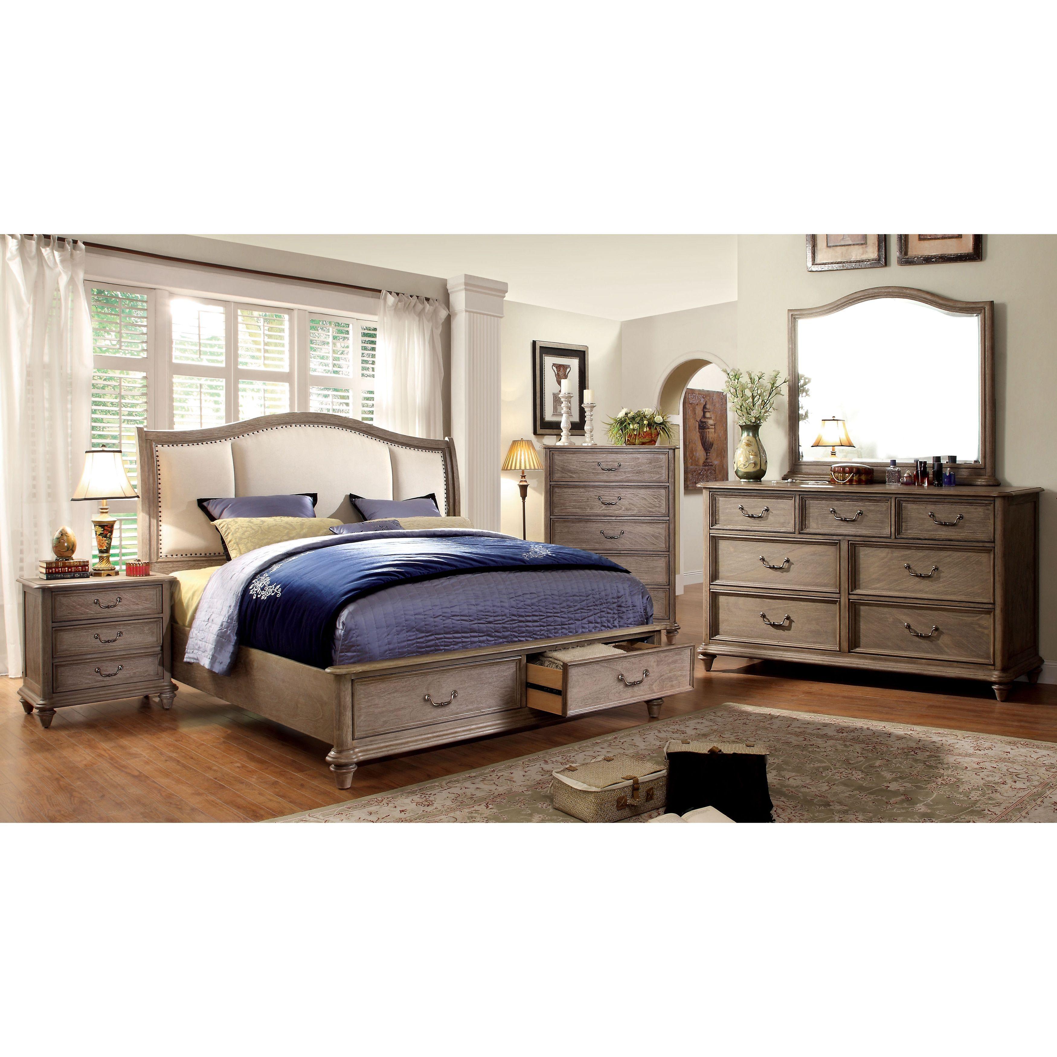 Best Furniture Of America Pury Farmhouse Grey 4 Piece Bedroom 400 x 300