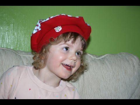Baskenmütze Emma von April-Sonne mit kostenlosem Schnittmuster - YouTube