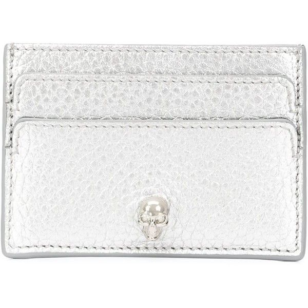 Alexander McQueen Skull Cardholder (£140) ❤ liked on Polyvore featuring bags, wallets, grey, alexander mcqueen wallet, skull wallet, decorating bags, grey bag and gray bag