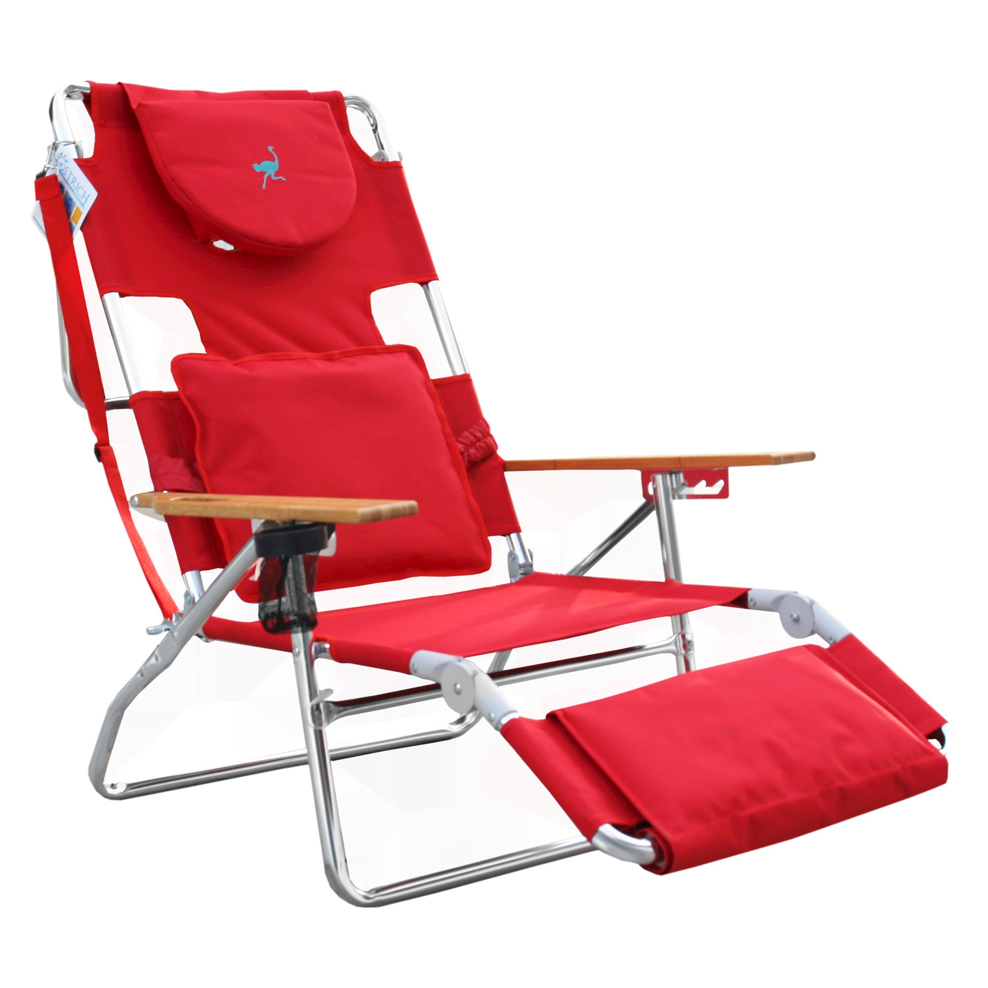Sensational Ostrich Deluxe 3 In 1 Face Down Beach Chair Red Deltess Gamerscity Chair Design For Home Gamerscityorg