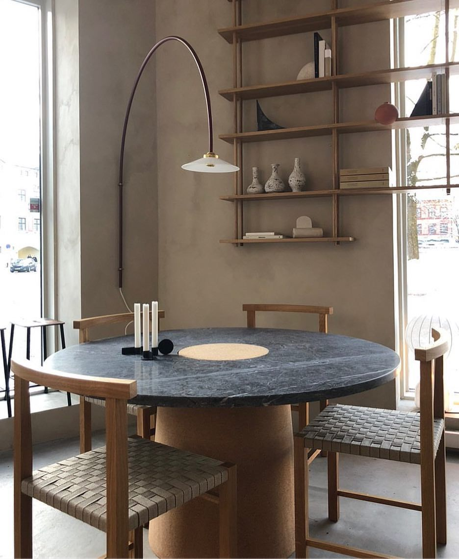 Sintra Dining Table With Cork And Dark Marble At Kollektedby Frama Studio Store In Oslo Open Today From 11 Home Decor Barn Interior Dining Room Inspiration