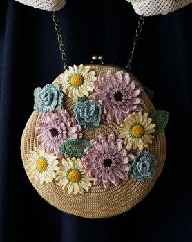 Adorno de flor de bolsa