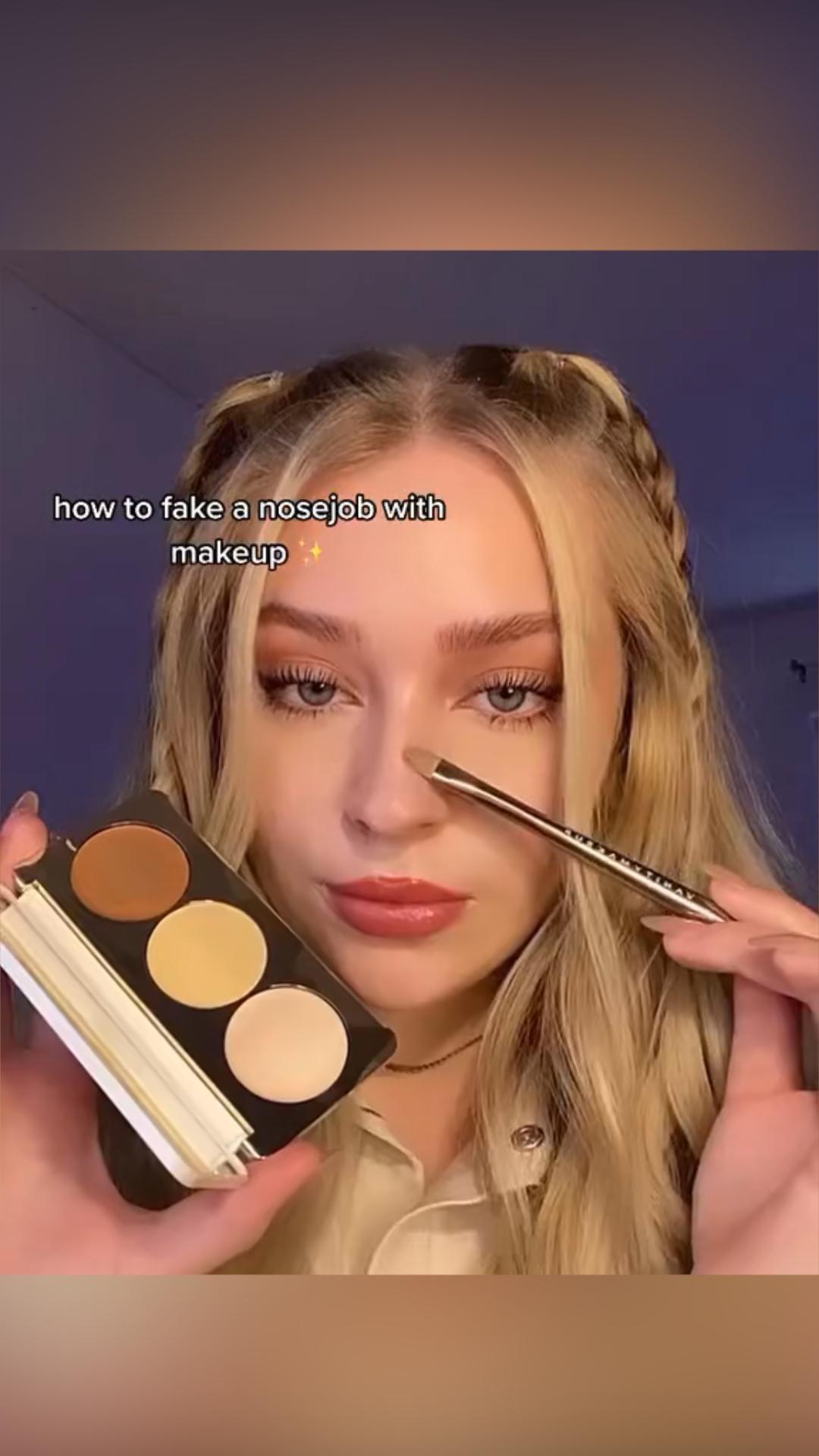 How to fake a nosejob with makeup
